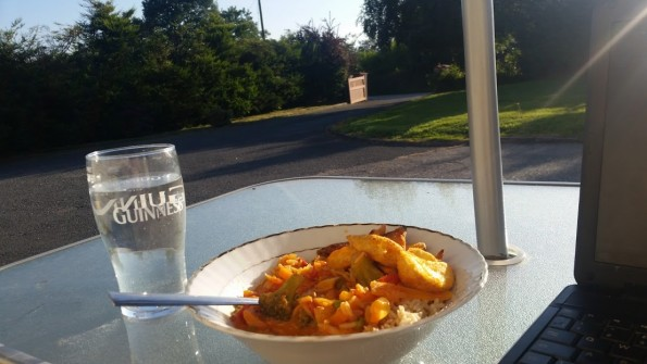 I could have been anywhere in the world eating dinner yesterday. Such beautiful weather.